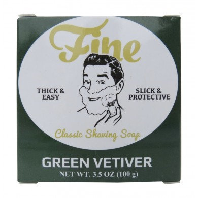 Green Vetiver - Fine Classic Shaving Soap - 100gr