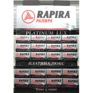 100 pcs Rapira Platinum Lux double edge blades