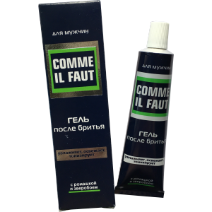 "Russian Aftershave Gel ""COMME IL FAUT"" with extracts of chamomile and st-john`s-wort (Svoboda) 39gr"