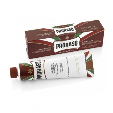 Proraso shaving soap in a tube Moisturising with Sandalwood Oil and Shea Butter - 150ml