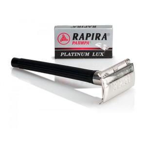 Safety Razor Rapira Platinum Lux + 5 RPL Blades